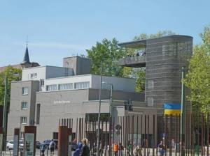 Dokumentationszentrum Berliner Mauer, Aussichtsturm (2008) Dokumentationszentrum Berliner Mauer, Berlin-Gesundbrunnen, Geschichte der Berliner Mauer