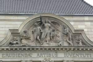 Fries über dem Haupteingang (2010) Universität der Künste, Charlottenburg