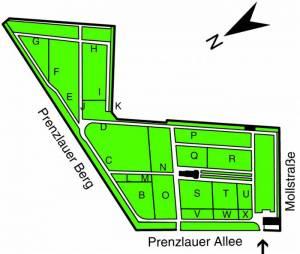 Übersichtsplan St. Marien- und St. Nikolai-Friedhof I, Prenzlauer Berg