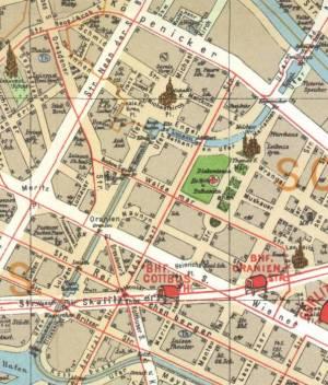 Pharus-Plan von 1902 Luisenstädtischer Kanal, Kreuzberg und Mitte