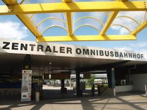 Zentraler Omnibusbahnhof (2011) ZOB (Zentraler Omnibusbahnhof Berlin), Berlin-Charloittenburg, Messe Berlin, Funkturm, Haus des Rundfunks