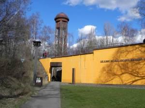 Naturpark Schöneberger Südgelände, Eingang mit Blick auf den Wasserturm (2015) Naturpark Schöneberger Südgelände, Ehemaliger Rangierbahnhof Tempelhof