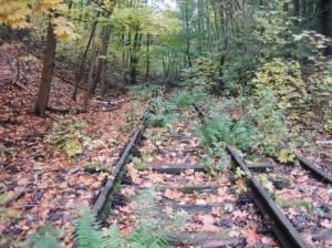 Friedhofsbahn, Gleisfragmente (2009) Friedhofsbahn, Zehlendorf, Stahnsdorf, Teltowkanal, Südwestkirchhof