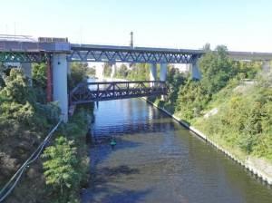 Gottlieb-Dunkel-Brücke (2011) Gottlieb-Dunkel-Brücke, Berlin-Tempelhof, Teltowkanal, Neukölln-Mittenwalder Eisenbahn