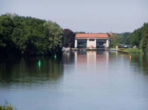 Machnower See mit Schleuse (2009) Teltowkanalweg, Etappe 2, Grüner Hauptweg 17