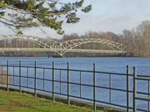 Havel und Eiswerderbrücke (2015) Von der Altstadt Spandau zum Ortskern Tegel, Havel, Eiswerder, Berlin-Spandauer Schifffahrtskanal, Tegeler See, Jungfernheide