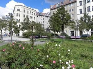 Parkanlage mit Denkmal (2010) Koppenplatz, Berlin-Mitte