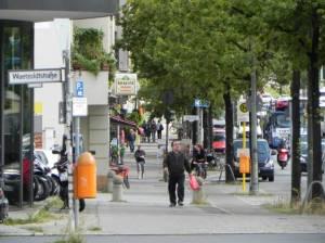 Schloßstraße (2014) Schloßstraße, Berlin-Steglitz, Matthäuskirche, Steglitzer Kreisel, Schlossparktheater, Finanzamt
