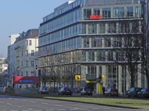 Hohenzollerndamm (2015) Hohenzollerndamm, Berlin-Wilmersdorf, Deutsche Rentenversicherung, Christi-Auferstehungs-Kathedrale, Fehrbelliner Platz