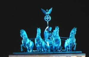 Beim Festival of Lights 2010 Quadriga, Brandenburger Tor