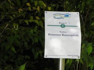 Gartenkulturpfad, Station Krummer Katzenpfuhl (2011) Krummer Katzenpfuhl, Berlin-Rudow, Nordpark, Gartenkulturpfad Neukölln