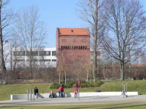 Cheruskerpark, Gasag-Nordspitze (2015) Cheruskerpark, Berlin-Schöneberg, GASAG-Nordspitze