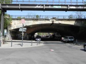 Bahn- und Autobahnbrücke, Berlin-Wilmersdorf,