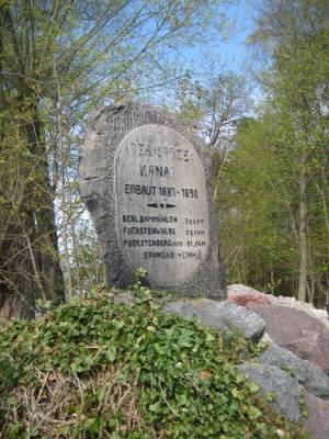 Gedenkstein Oder-Spree-Kanal (2010) Oder-Spree-Kanal, Gedenkstein