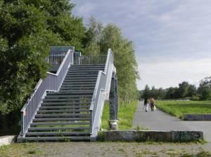 Fußgängerbrücke, Insulaner, Hans-Baluschek-Park,