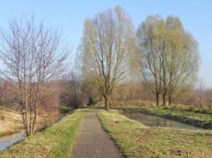 Weg zwischen Laake und Feldgraben (2010) Wanderweg Stadtrandpark Neue Wiesen, Berlin-Karow