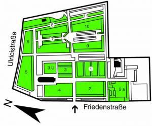 Übersichtsplan Alter Friedhof Wannsee,