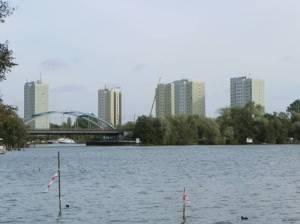 Eisenbahnbrücke über die Neustädter Havelbucht (2011) Brücke Neustädter Havelbucht, Potsdam (Brandenburger Vorstadt),