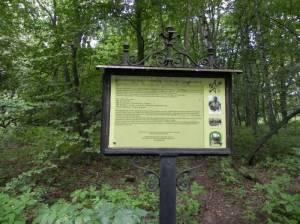 Gedenktafel Treskowgrab (2012) Treskowgrab, Dahlwitz-Hoppegarten, Erpetal, Schlosspark Dahlwitz