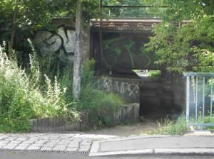 Eisenbahnunterführung, Berlin-Friedrichshagen, Erpe, Erpetalwanderweg