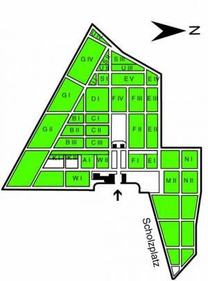 Übersichtsplan Friedhof der Jüdischen Gemeinde,