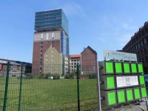 Oberbaum-City-Park, Berlin-Friedrichshain, Narvaturm, BASF