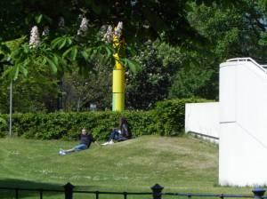 Wiese am Bauhaus-Archiv (2014) Calandrelli-Anlage, Berlin-Tiergarten, Bauhaus-Archiv, Villa von der Heydt, Hiroshimasteg, Landwehrkanal