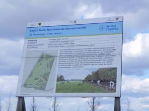 Bauschild (2013) Landschaftspark In den Gehren, Schönefeld, Dörferblick, Landschaftspark am Dörferblick