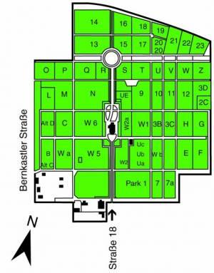 Übersichtsplan Kirchhof der evangelischen Kirchengemeinde St. Bartholomäus,