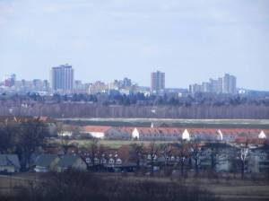 Großziethen, Schönefeld, Gartenstadt, Landschaftsparks, Mauerweg, ehemalige Mülldeponie, Flughafen