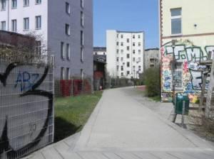 Fußgängerverbindung Crellestraße,