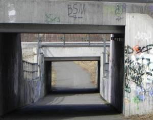 Bahnunterquerung Teltow, Mauerweg, Kirschbaumallee