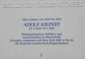 Adolf Kiepert, Berlin-Marienfelde, Gutshaus Marienfelde, Gutshof Marienfelde
