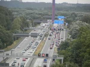 Autobahn A1 (2013) A1, Hamburg-Moorfleet,
