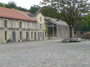 Freilichtbühne und Kulturscheune (2014) Freilichtbühne Gutshof Britz, Gutspark Britz, Heimatmuseum Neukölln, Schloss Britz,  Kulturscheune