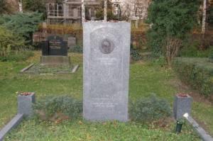 Dorotheenstädtischer Friedhof, Grabstelle von Johannes Rau (2008) Johannes Rau, Dorotheenstädtischer Friedhof,