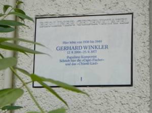 Gedenktafel für Gerhard Winkler (2012) Gerhard Winkler, Capri Fischer