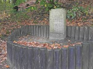 Gedenkstein für Fritz Göhrs an der Krummen Lanke (2014) Fritz Göhrs, Berlin-Zehlendorf, Krumme Lanke, Grunewald
