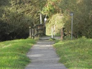 Teltower Dörferweg, Brücke über den Buschgraben (2014) Teltower Dörferweg, Etappe 1, Grüner Hauptweg Nr. 15