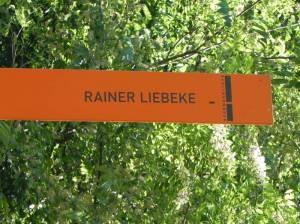 Gedenkstele für Rainer Liebeke (2014) Rainer Liebeke, Potsdam-Sacrow, Sacrow, Seeburger Königswald, Havel