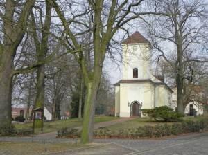 Dorfkirche Lübars (2015) Dorfkirche, Berlin-Lübars, Kirchhof, Altes Schulgebäude, Dorfanger