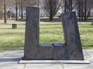 Paar II von Rüdiger Preisler (2015) Paar II, Berlin Schöneberg, Skulpturengarten im Auguste-Viktoria-Krankenhaus