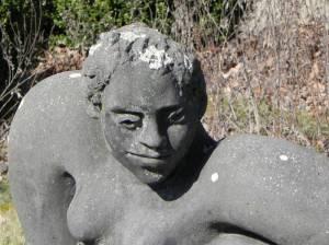 Emmi Eins von Silvia Kluge (2015) Emmi Eins, Berlin-Schöneberg, Skulpturengarten im Auguste-Viktoria-Krankenhaus