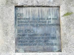 Gedenktafel Alter Ortskern Wilmerdorf (2014) Gedenktafel alter Ortskern, Berlin-Wilmersdorf,
