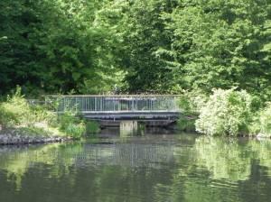 Östliche Teichgrabenbrücke (2015) Östliche Teichgrabenbrücke, Berlin-Charlottenburg, Schloss Charlottenburg, Schlosspark, Spree