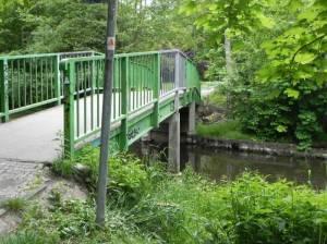 Brücke an den Fließtalhöfen (2015) Brücke an den Fließtalhöfen, Berlin-Hermsdorf, Tegeler Fließ