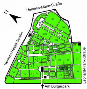 Übersichtsplan Friedhof Pankow III,