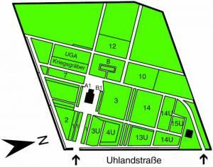 Übersichtsplan Friedhof Pankow VII,