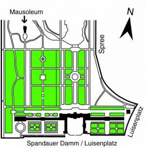 Übersichtsplan Mausoleum im Schloßpark Charlottenburg,