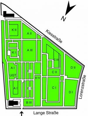 Übersichtsplan Friedhof Lankwitz,
